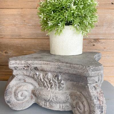 DIY Restoration Hardware Dupe – Stone Pedestal