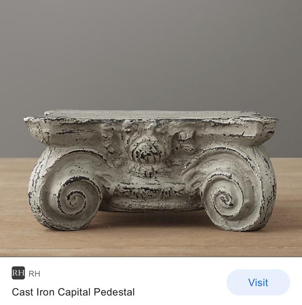 DIY Restoration Hardware Pedestal Dupe