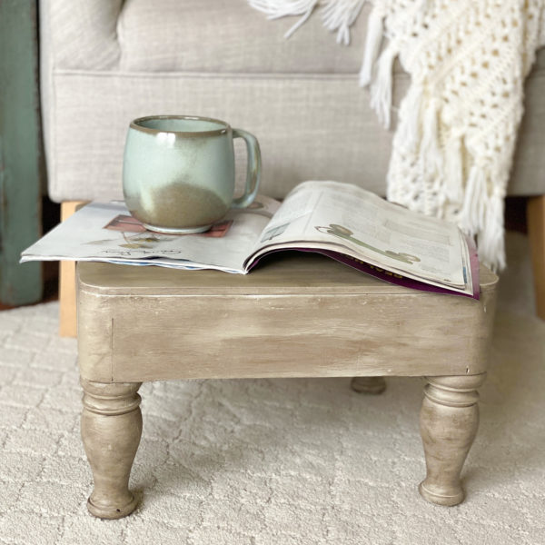 A weathered wood look is so pretty and this post will show you How To Get A Weathered Wood Look fast with only paint and stain!