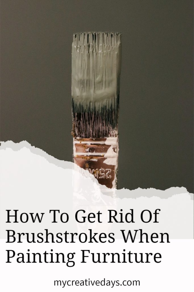 Tired of brushstrokes when you paint furniture? Here are 3 easy tips for getting rid of brushstrokes when painting furniture every time.