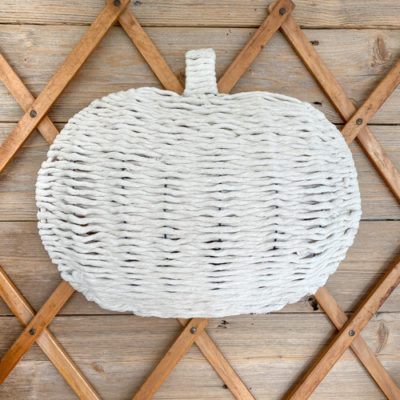 Chunky Knit Pumpkin DIY – Dollar Store Craft