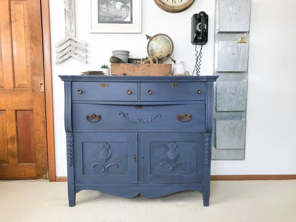 blue glazed dresser